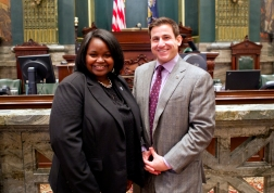 Latesha with Senator Larry Farnese, a Villanova Alum.
