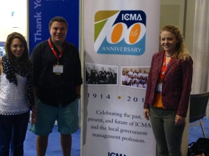 Allie Bittner, E.J. Mentry, and Shanna Lodge at ICMA's 100th Anniversary Annual Conference